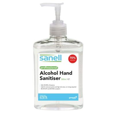 Gompels Alcohol Based Hand Sanitiser 500ml