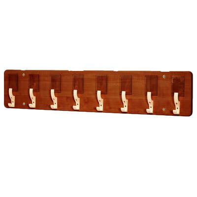 8 Pocket Wall Hook Dark Wood