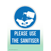 Hand Sanitiser Non Marking Adhesive Sign A5