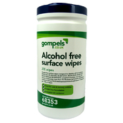 Gompels Alcohol Free Surface Wipes Tub 200