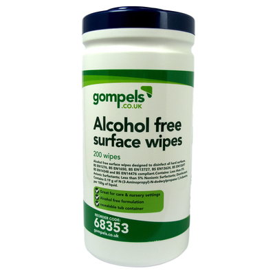 Sanell Alcohol Free Surface Wipes Tub 200 Pack