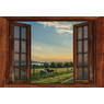 Window Frame Wall Vinyl Lake& Sheep View 60