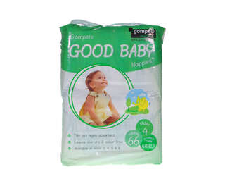 Gompels Baby Nappy Maxi Size 4 7-18kg 66