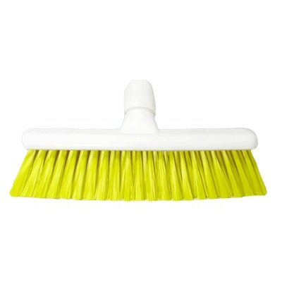 "Soft Sweeping Broom Head 12"" - Colour: Yellow"