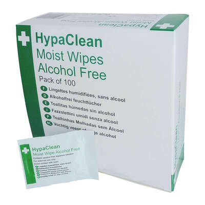 Alcohol Free Wound Cleansing Wipes 100 Pack