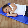 Folding Sleep Mat Blue 1200mm x 600mm