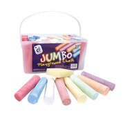 Jumbo Playground Chalk Asst 52 Pcs