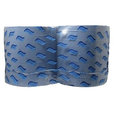 Industrial Wiper Rolls Blue 2ply 360mx280mm 60mm Core x 2