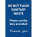 Sanitary Waste / Reception Sign A5