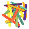 Coloured Wooden Jumbo Lolli Sticks 100 150mm x 18mm