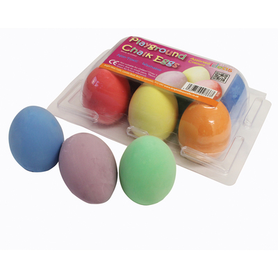 Playground Chalk Eggs Assorted 6 Pack