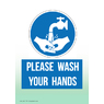 Hand Washing Non Marking Adhesive Sign A5