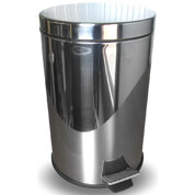 Soclean Pedal Bin Mirrored Stainless Steel 12l