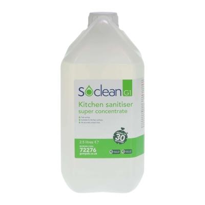 Soclean Kitchen Sanitiser Super Concentrate 2.5 Litre