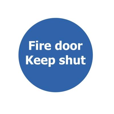 Fire Door Non Marking Adhesive Sign x 3 - Design: Keep Shut
