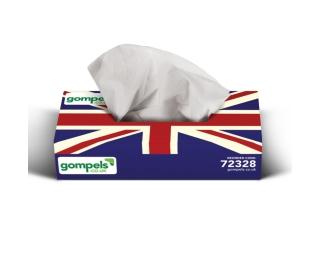 Proform Union Jack Facial Tissues 2ply 36 x 100