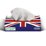 Soclean Union Jack Facial Tissues 2ply 36 x 100