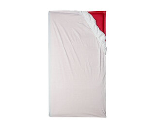 Fitted Cot/Sleep Mat Sheet White 60cm x 120cm 2 Pack