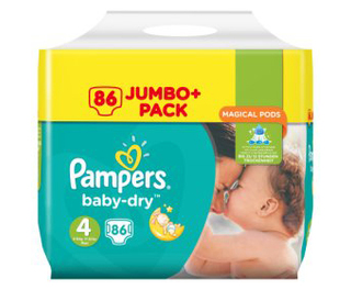 Pampers Baby Dry Jumbo Size 4 Maxi 86 Pk