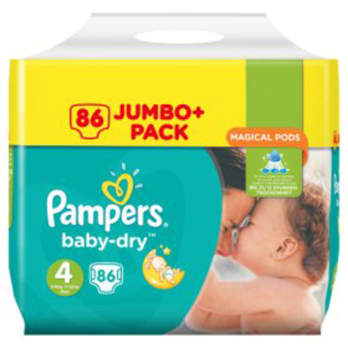 Pampers Baby Dry Jumbo Size 4 Maxi 86 Pk Gompels Healthcare
