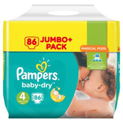 Pampers Baby-Dry Nappies Size 4 Maxi 86 Pack