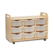 Tray Storage Unit With 9 Deep Trays