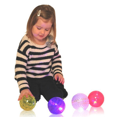 Sensory Flashing Balls Texture 4 Pack
