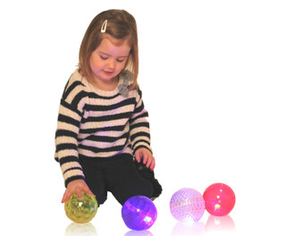 Sensory Flashing Balls Texture 4 Pk
