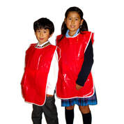 Kids Painting Apron Pvc Red 61x58cm