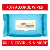 Large Alcohol Surface Wipes 100 Pack
