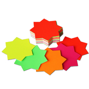 "Fluorescent Card Stars 3"" Pack 50"