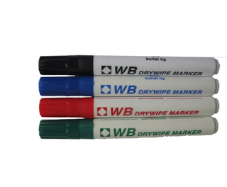 Drywipe Markers Assorted 4pk