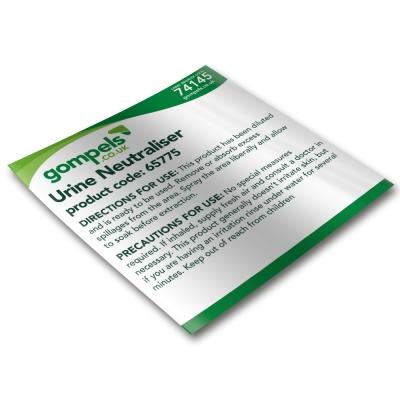 Labels for Gompels Urine Neutraliser 65775 for Spray Bottles x 6