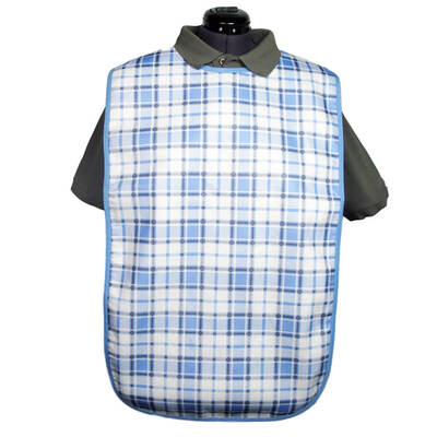 Adult Bibs - Colour: Blue / White