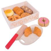 Wooden Bread and Pastries Set