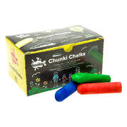 Chunky Coloured Chalks Assorted 40 Pack