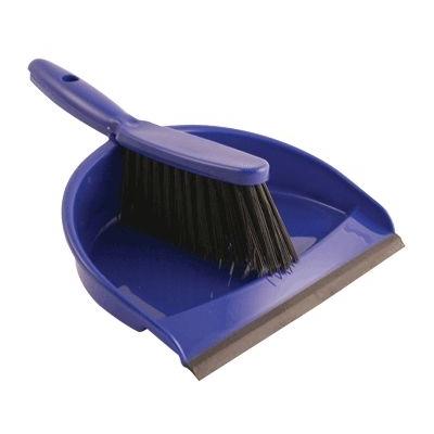 Dustpan & Brush Set - Colour: Blue