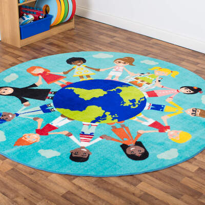Children of The World Carpet Round 2m