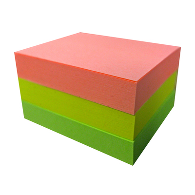 Sticky Notes Assorted Neon 38mm x 50mm 3 Pack