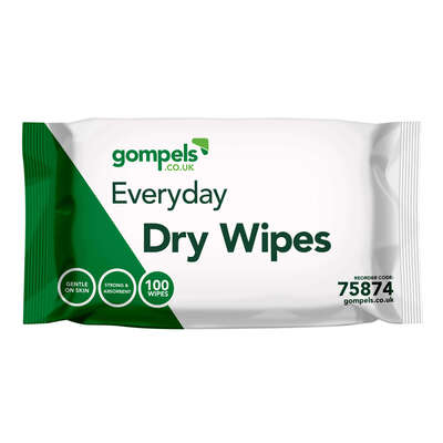 Everyday Dry Wipes Standard 20x28cm 100 Pack