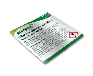 Labels for Gompels Kitchen Cleaner Sanitiser & Degreaser 61225 x 6