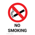 Gompels No Smoking/No Mobiles Sign A5 Wipe Clean