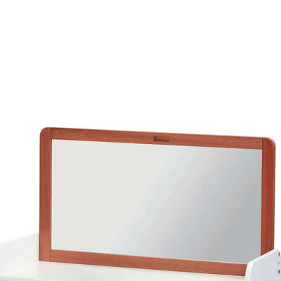 Mirror for Low Storage Unit Dark Wood