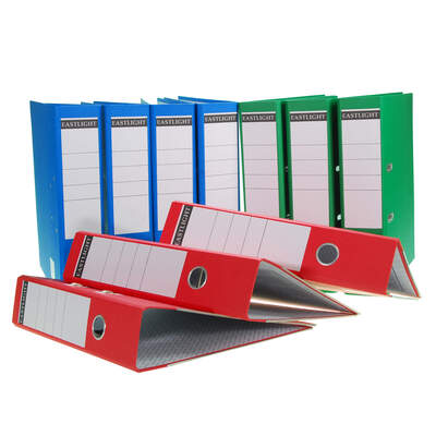 A4 Lever Arch File Assorted 10 Pack