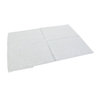White Towelling Bath Mat x 6
