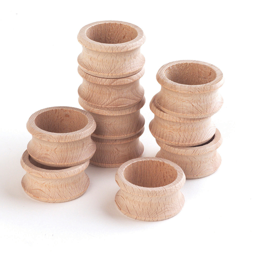 Wooden napkin ring 47mm 10 pack gompels healthcare for Wholesale craft supplies in bulk