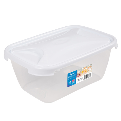 Rectangular Food Storage Box With Lid - Size: 2l