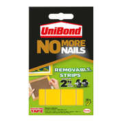 Unibond No More Nails Removable Strips 10 Pack