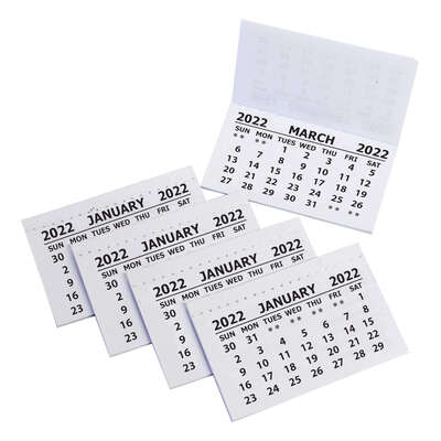 Calendar Tabs 2022 50 Pack