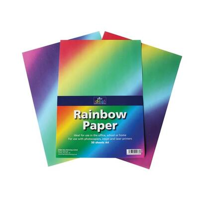 A4 Rainbow Paper 50 Pack